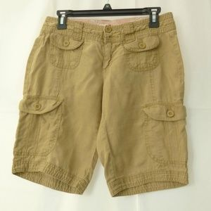 Old Navy Women Shorts Size 2 Above Knee Linen